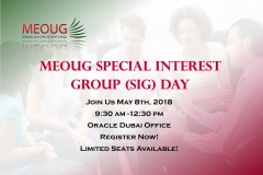 Register NOW for MEOUG Special Interest Group (SIG) Day May 8, 2018